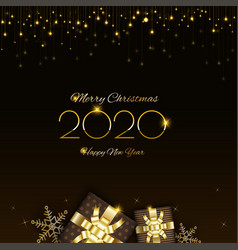 Merry christmas design with glowing glittering lig vector