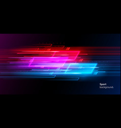 modern abstract neon sport background or collage vector image
