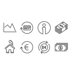 money currency exchange currency and refund vector image