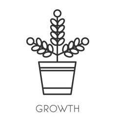 Money growth isolated icon income or profit vector