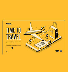 online mobile service for travelers website vector image