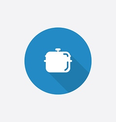 pan Flat Blue Simple Icon with long shadow vector image