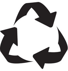 recycle sign icon arrow icon recycling vector image