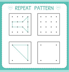 repeat pattern educational games for practicing vector image