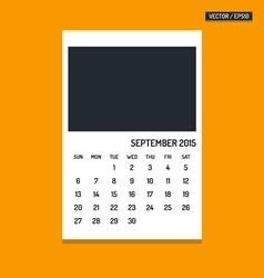 September 2015 calendar vector image