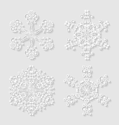 Set of decorative snowflakes vector image