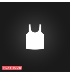 shirt flat icon vector image