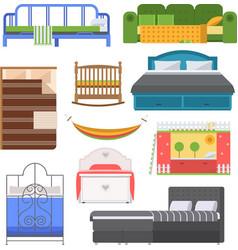 Sleeping furniture set vector image