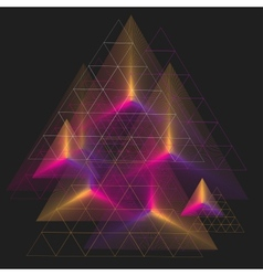 Spectrum geometric background made of triangle vector image
