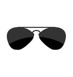 sunglasses isolated accessory from sun on white vector image