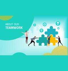 teamwork business vector image
