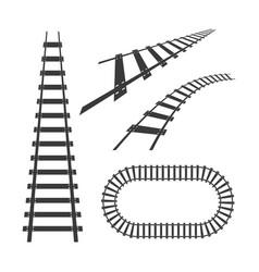 train tracks icon design vector image