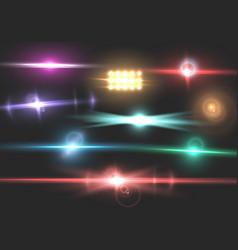 Transparent lens flare effect vector