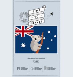 travel to australia presentation template vector image