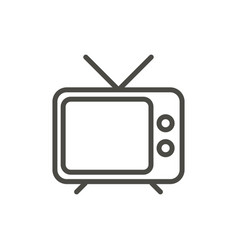 tv icon outline television line old tv sy vector image