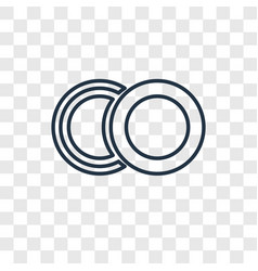 Two circles concept linear icon isolated vector