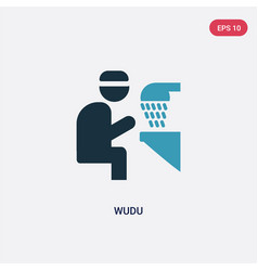 two color wudu icon from religion-2 concept vector image