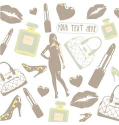 Vintage Beauty Fashion Pattern vector