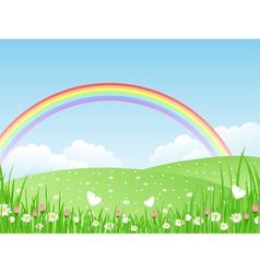 beautiful summer landscape wit vector image vector image