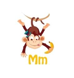 Monkey Funny Alphabet Animal vector image vector image
