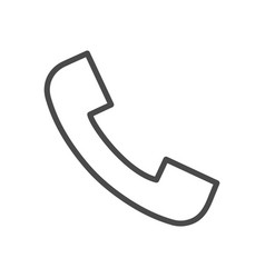 Phone call line icon vector