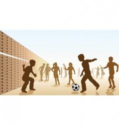 schoolyard football vector image