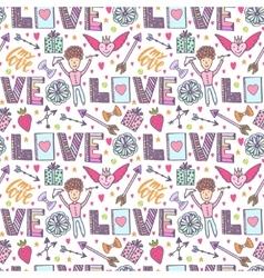 Valentines day romantic background vector image