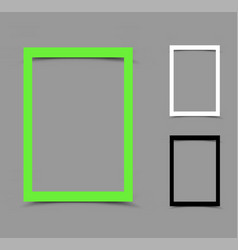 a4 paper frame vertical vector image vector image