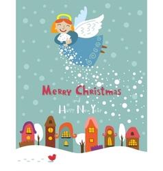 Christmas angel vector