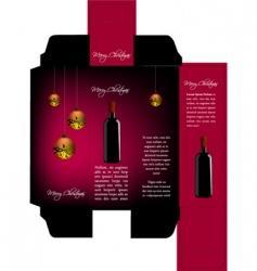 Christmas wine package vector