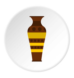 egyptian pottery vessel icon circle vector image