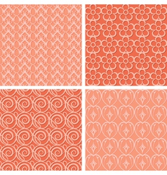 red seamless patterns vector image vector image
