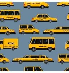 Seamless pattern of taxi icons vector image