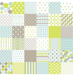 Seamless Patterns - Digital Scrapbook vector image vector image