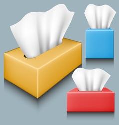 Tissue box set vector image vector image