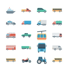 Transports Colored Icons 2 vector image