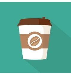 Coffee to go paper cup icon vector image