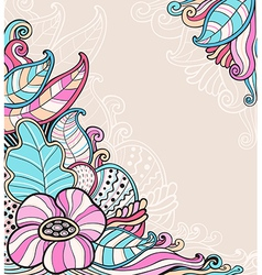 Decorative abstract floral background vector