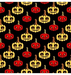 Halloween lines pattern with pumpkins vector image