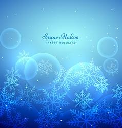 Xmas festival snowflakes background vector