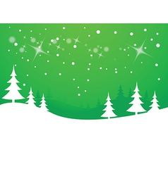Christmas tree and snowflakes background vector image vector image