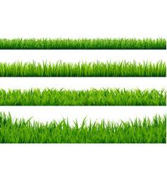 green grass borders set vector image vector image