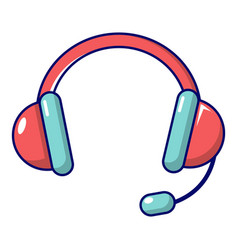 headset icon cartoon style vector image vector image