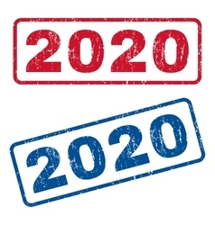 2020 Rubber Stamps vector