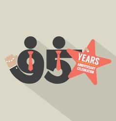 95 Years Anniversary Typography Design Illu vector image
