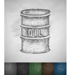 A barrel of oil icon vector