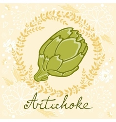 A colorful of fresh artichoke vector image