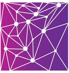 Abstract polygonal space polygon on purple vector