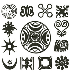 african traditional motifs vector image