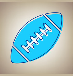 american simple football ball sky blue vector image